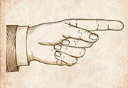 Dedo señalador de granos